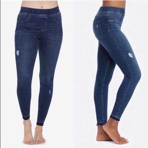 SPANX Distressed Ankle Skinny Jeans